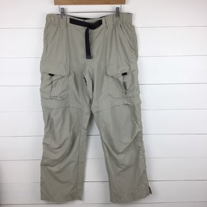 Eddie Bauer 32 Convertible Pants Zip Off Nylon